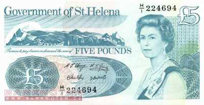 St. Helena - 5  Pounds (#011a_UNC)