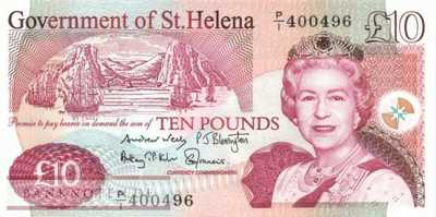 St. Helena - 10  Pounds (#012b_UNC)