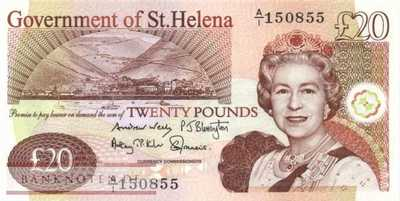 St. Helena - 20  Pounds (#013b_UNC)