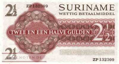 Suriname - 2 1/2  Gulden - Replacement (#117bR_UNC)