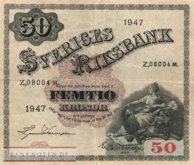 Sweden - 50  Kronor (#035ab_VF)