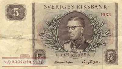 Sweden - 5  Kronor - Replacement (#050r2_F)
