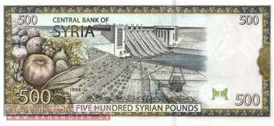 Syria - 500  Pounds (#110c_UNC)