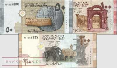 Syrien: 50 - 200 Pounds (3 banknotes)