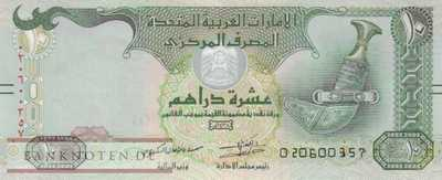 Unites Arab Emirates - 10  Dirhams (#027e_UNC)