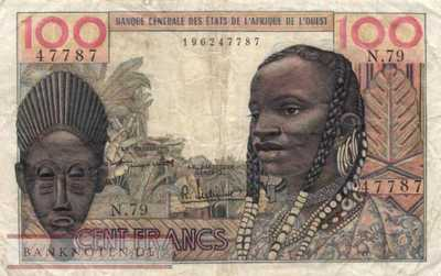 West African States - 100  Francs (#002a_F)