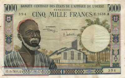 Ivory Coast - 5.000  Francs (#104Ah_VF)