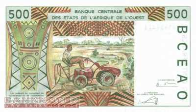 Ivory Coast - 500  Francs (#110Am_UNC)