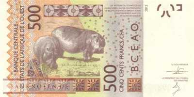 Senegal - 500  Francs (#719Kc_UNC)
