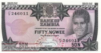 Zambia - 50  Ngwee (#014a_UNC)