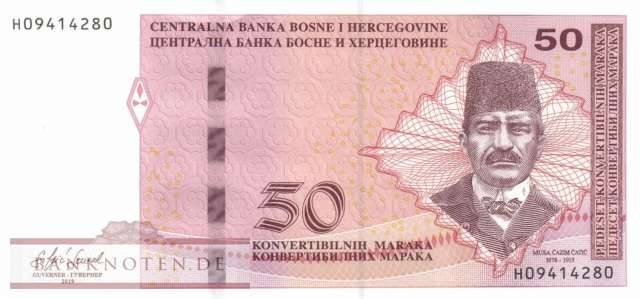 Bosnia and Herzegowina - 50  Convertible Maraka (#084c_UNC)