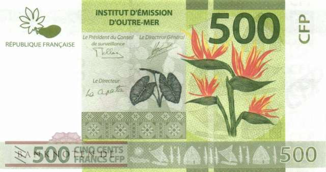 French Pacific Territories - 500  Francs (#005b_UNC)