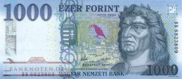 Hungary - 1.000  Forint (#203a_UNC)