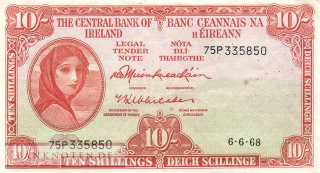 Ireland - 10  Shillings (#063a-68_VF)