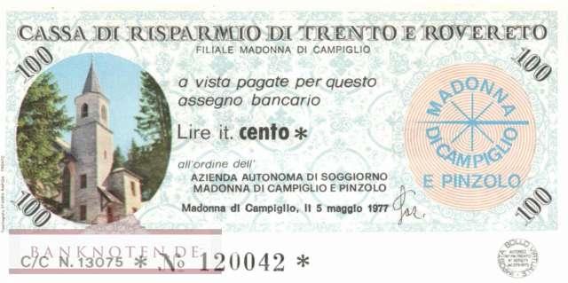 banknoten.de - Cassa di Risparmio di Trento e Rovereto 100 Lire ...