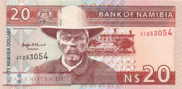 Namibia - 20  Namibia Dollars (#005a_UNC)