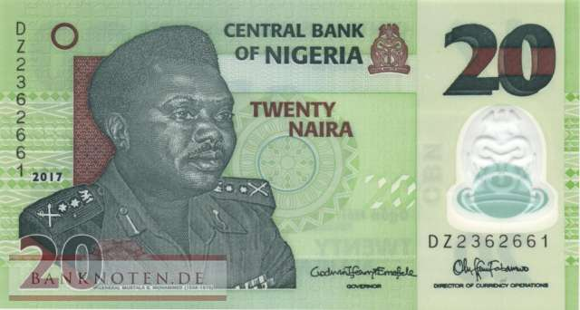 Nigeria - 20  Naira - Replacement (#034mR_UNC)