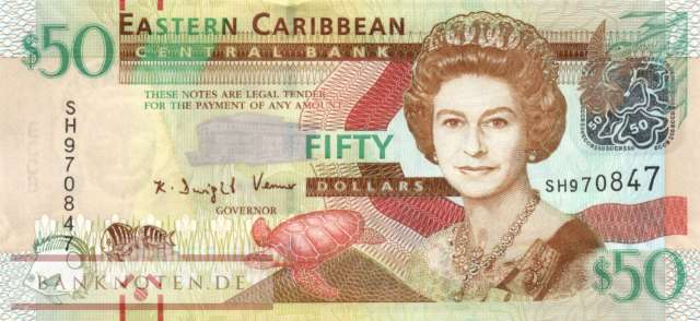 Eastern Caribean States - 50  Dollars (#054a_UNC)
