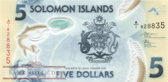 Solomon Islands - 5  Dollars (#032_UNC)