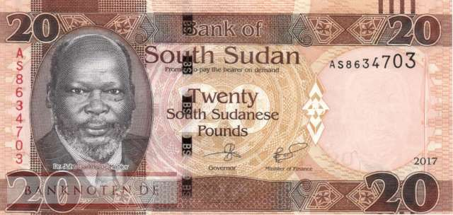 Südsudan - 20  Pounds (#013c_UNC)