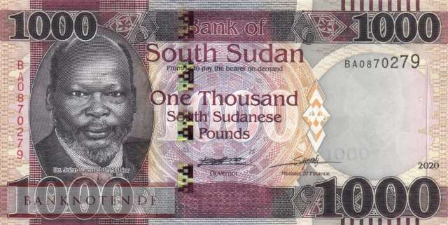 South Sudan - 1.000  Pounds (#017a_UNC)