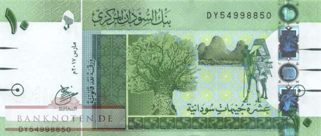 Nordsudan - 10  Pounds (#073c_UNC)