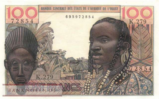 West African States - 100  Francs (#002b_UNC)